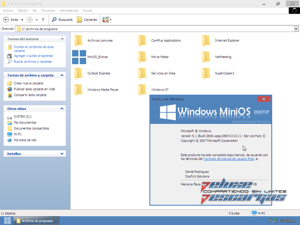 Windows XP MiniOS